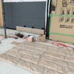 K様邸新築工事 玄関外壁